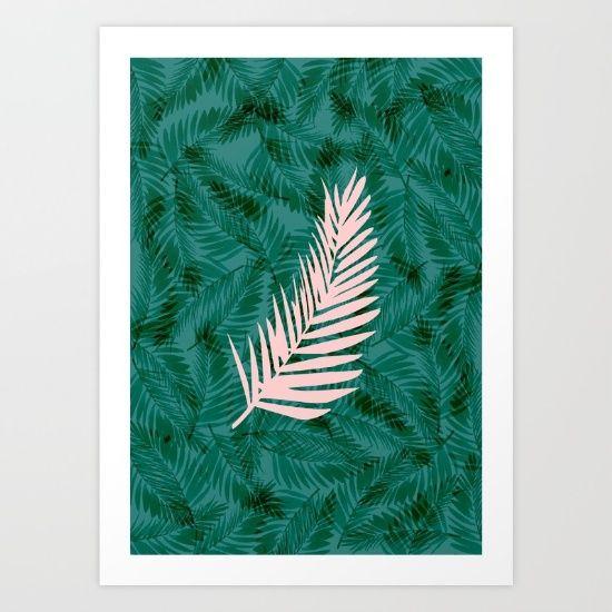 Pink leaf // Sarah Jager Design