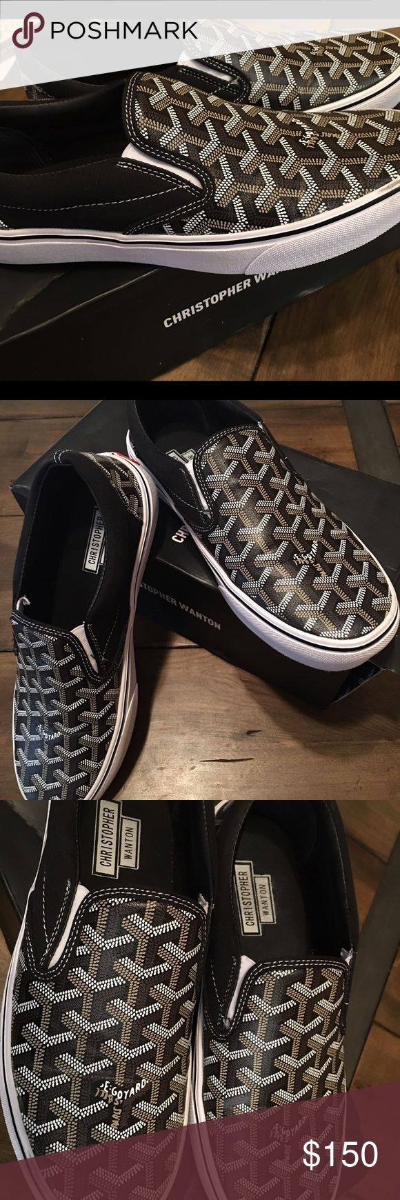 Goyard Vans Christopher Wanton Used ones Goyard Vans unisex 8.5 Mens 10 Womens. Comes with original box Goyard Shoes Sneakers