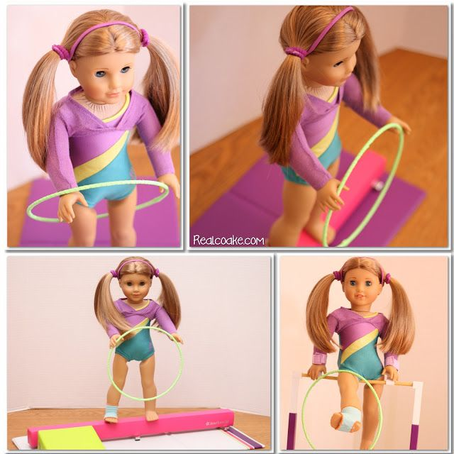"American Girl Crafts ~ How to make a gymnastic hoop for your 18"" Doll from realcoake.com #Crafts #AmericanGirlDoll"