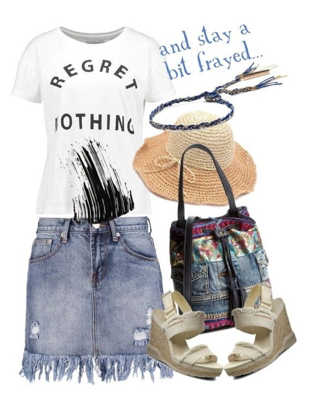 Talk about frayed ;-) by amisha73 on Polyvore featuring moda, even&odd and Marc Jacobs