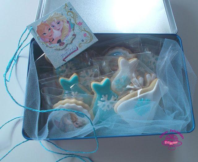 Dulces felicidades: Caja de galletas Frozen