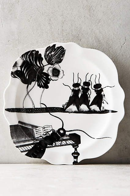 Wild masquerade canape plate ideas for Calligrapher canape plate anthropologie