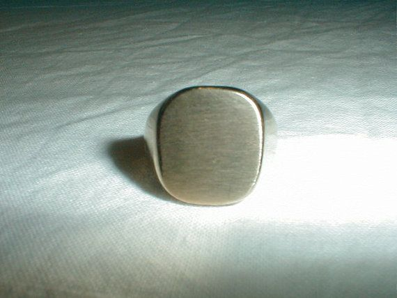 joseph esposito mens signet ring sz.7-1/2 by qualityvintagejewels