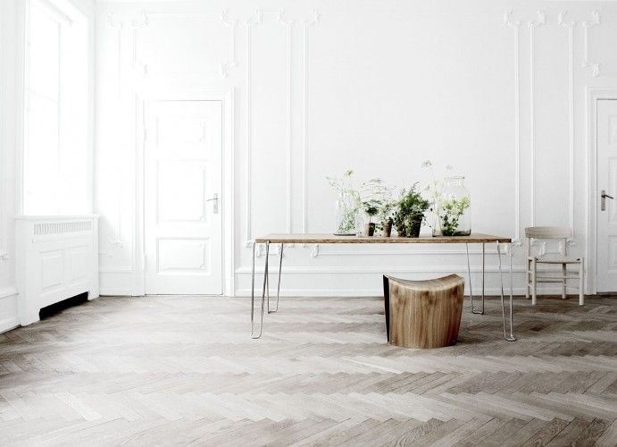 snow white space with timber accents