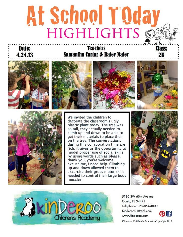 Two year olds - tree project with 'beautiful stuff' brought from home ≈≈