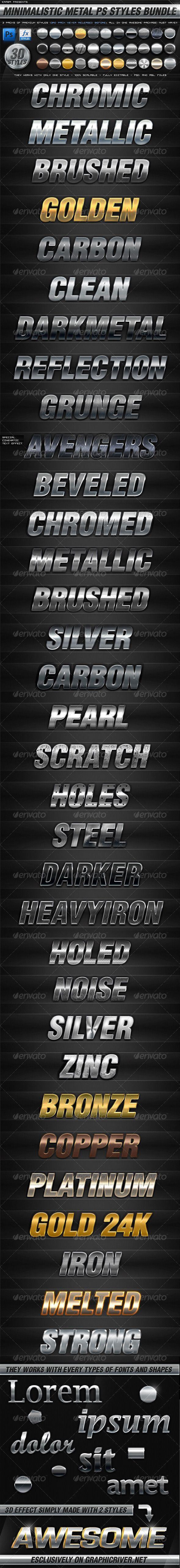 BUNDLE - 30 Minimalistic Metal PS Styles