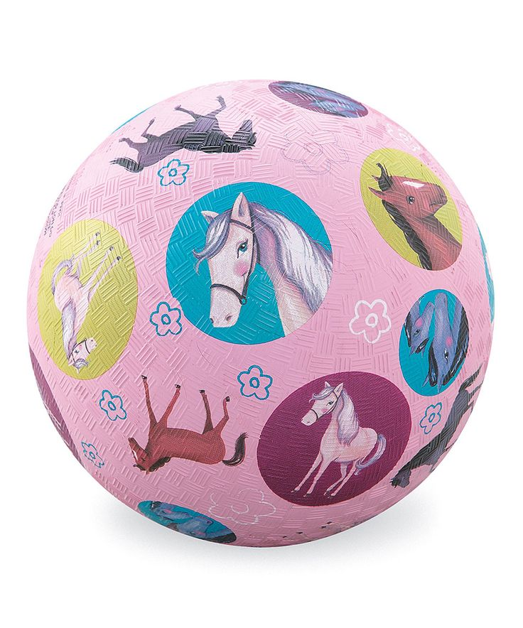 Another Great Find On Zulily Purple Horses Rubber Ball