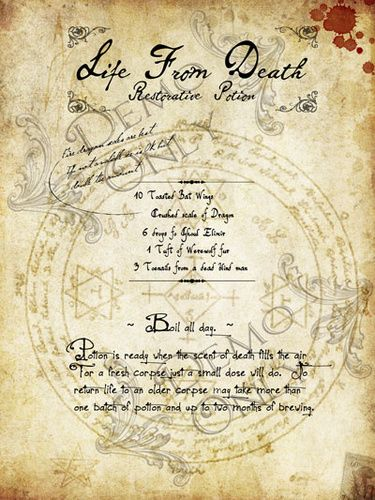 Life from Death Potion Page