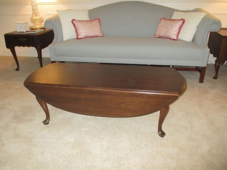 ETHAN ALLEN Georgian Court Drop Leaf Coffee Table Cherry 225 Finish ~  EXCELLENT #EthanAllen #Traditional