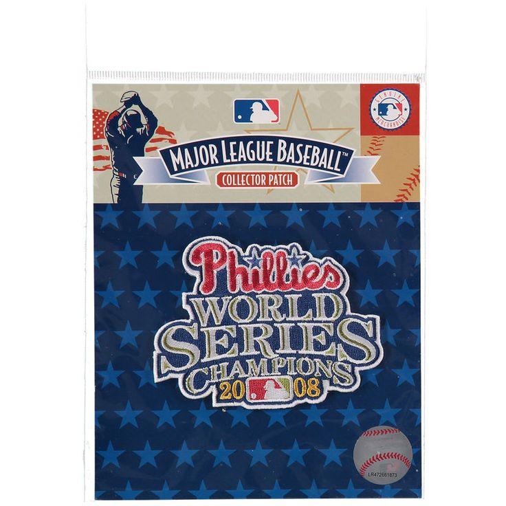 "Philadelphia Phillies 4.5"" x 3.5"" Script 2008 World Series Patch"