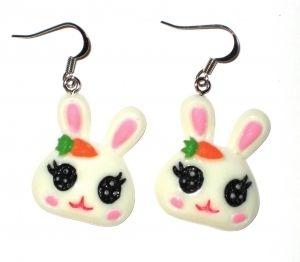 Happy Bunny korvikset valkoinen 7,50€