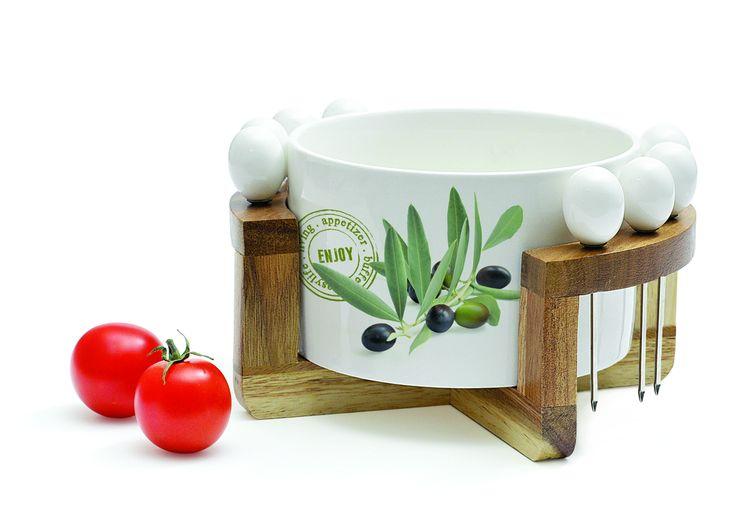 Zestaw do oliwek 980 || #set for #olives ; #party #decosalon #giftidea #nuova