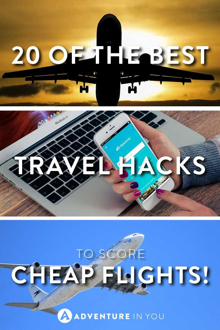 Travel Hacks | Here are 20 of the best travel hacks to score cheap flights around the world! Try them and you might just land a great deal!