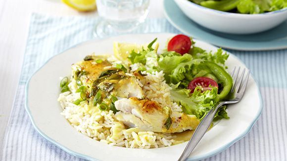 Baked Fish with a Creamy Cheese Sauce