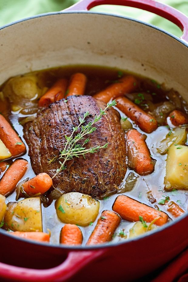 Best Ever Pot Roast With Carrots And Potatoes Roast Beef Recipes Cooking Recipes Pot Roast
