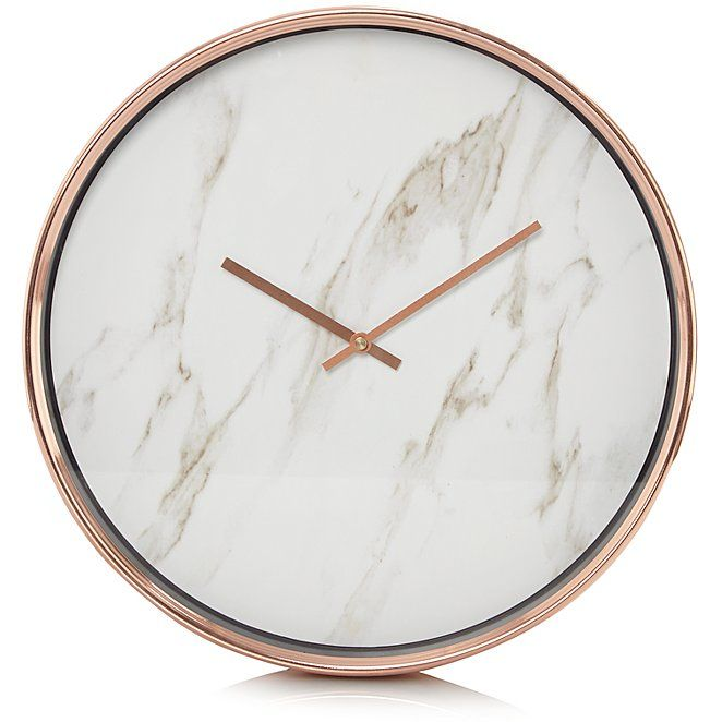Clocks Buy Home Garden Online At George Shop From Our Latest Home Garden Range Fantastic Quality Style And Value Marble Clock Clock Marble Accessories