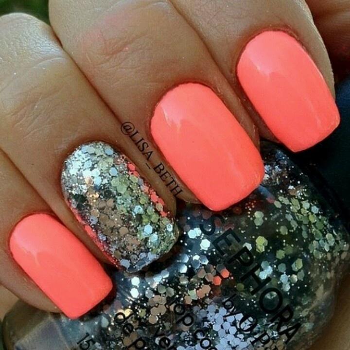 Peach-n-Silver Sparkles!