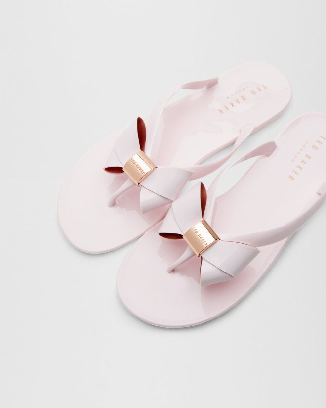 Bow flip flops - Light Pink | Shoes | Ted Baker