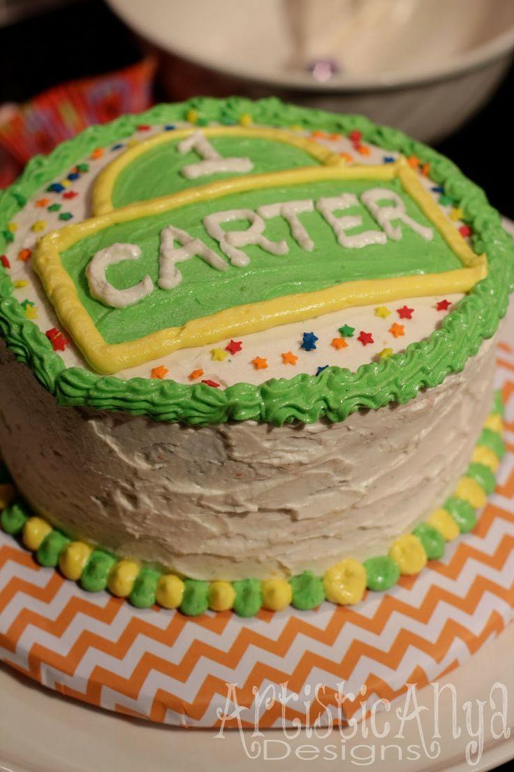 {Artistic Anya Designs} Elmo and Friends - Sesame Street 1st Birthday-Smash Cake