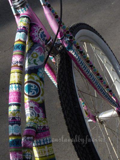 Fabric + Mod Podge = Beautiful bike!