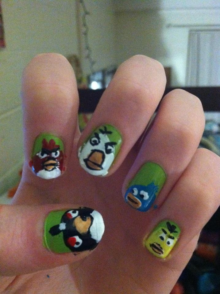 Fancy Angry Bird Nail Art Pictures - Nail Art Design Ideas ...