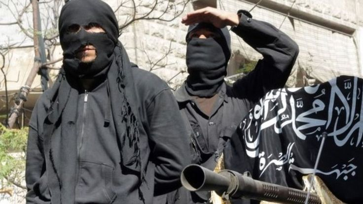 The spokesman for the al-Qaeda linked al-Nusra Front is among 20 or so jihadists killed in an air raid in Syria, activists report.