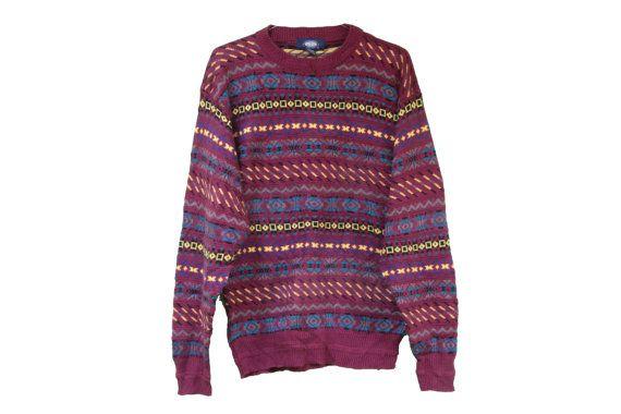 Stampa tribale vintage maglione - Boho classico 'Hipster' maglione - lunga sovradimensionato