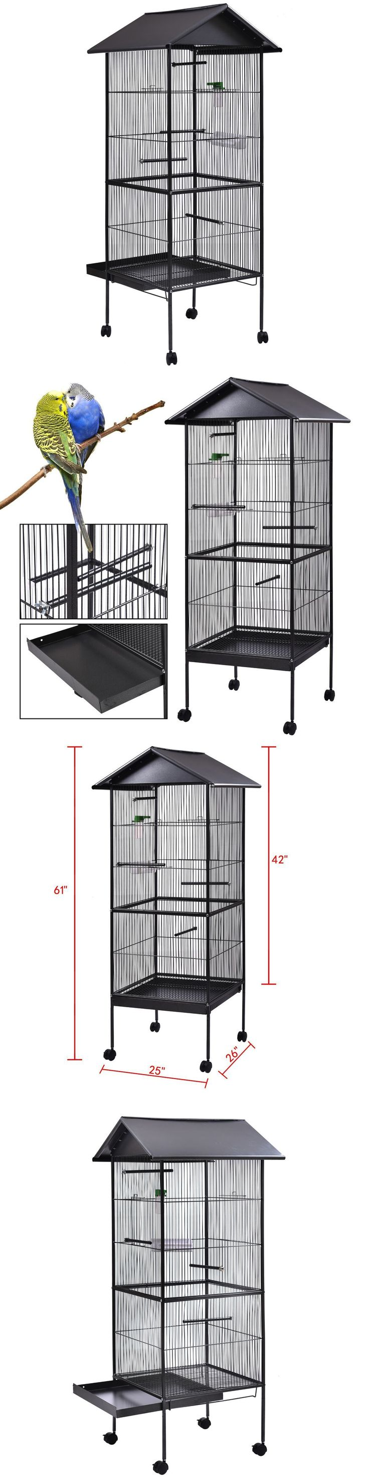 Cages 46289: Bird Cage 61 Iron Parrot Finch Play Top Pet Supplies W/Perch Stand Two Doors -> BUY IT NOW ONLY: $64.99 on eBay!