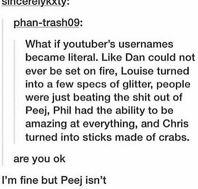 Well phil is already amazing so we're a fifth of the way there >>> I feel so bad for PJ