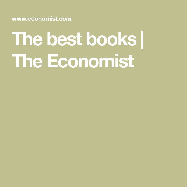 The best books | The Economist