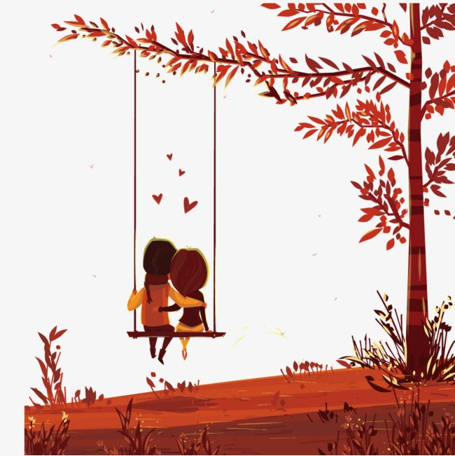 Couple Sitting On A Swing Lovers Swing Trees Png Transparent Clipart Image And Psd File For Free Download Friends Illustration Swing Painting Chinese Art Painting
