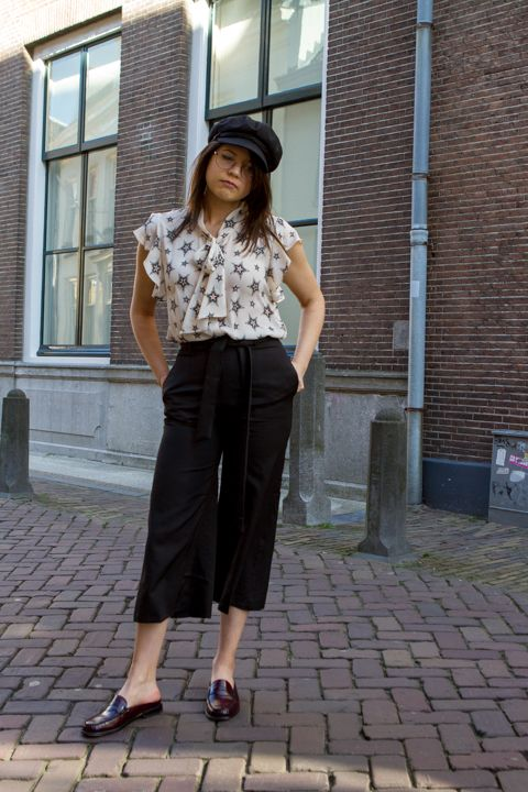 Click to see this outfit featuring cropped wide-leg pants from Zaful, plus other styling ideas for spring and summer 2017! #style #ootd #culottes #mules #zara #trending #ss17 #trends #mode #stars #fashion #lookbook #summer #clothing #women