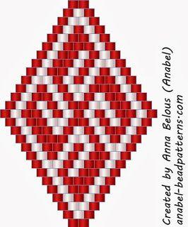 5 régimes boucles d'oreilles - ethnies slaves - tissage mosaïque