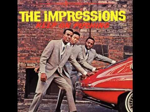"From 1965 here's ""People Get Ready"" by  The Impressions"