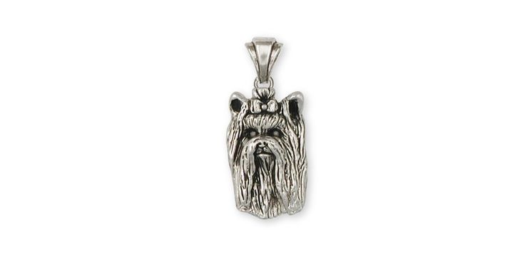 Yorkie Yorkshire Terrier Pendant Jewelry Sterling Silver Yorkie Yorkshire Terrier Dog Pendant YK30-P. This is hand made when ordered. 30 Day Money Back Guarantee.