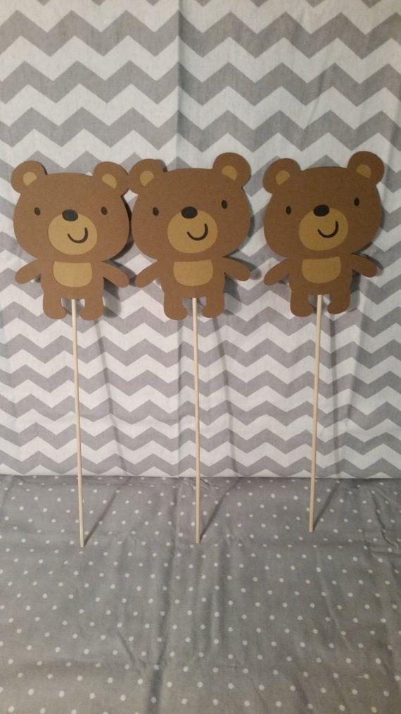 Bear Centerpiece bear birthday bear baby by BellasPerfectParty