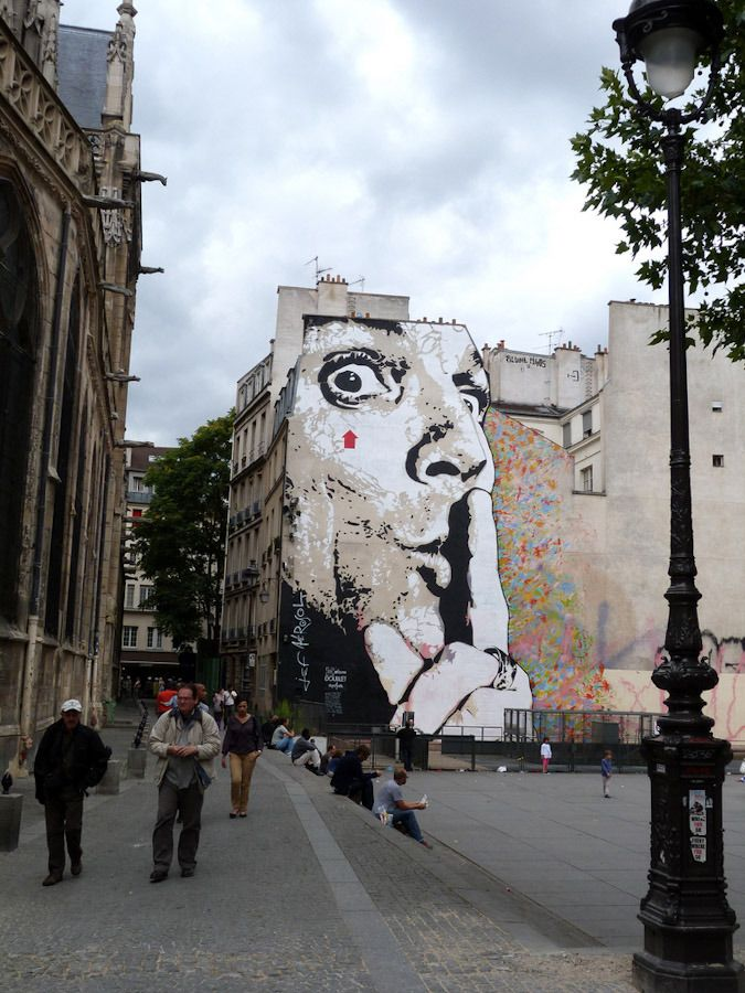 How lovely it would be to walk through the streets of Paris and find this.... Jef Aerosol, Paris - unurth | street art