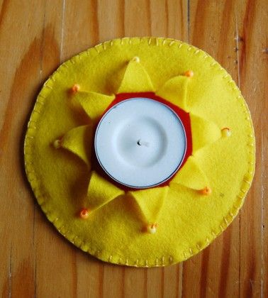 How to sew a summer tealight candle mat