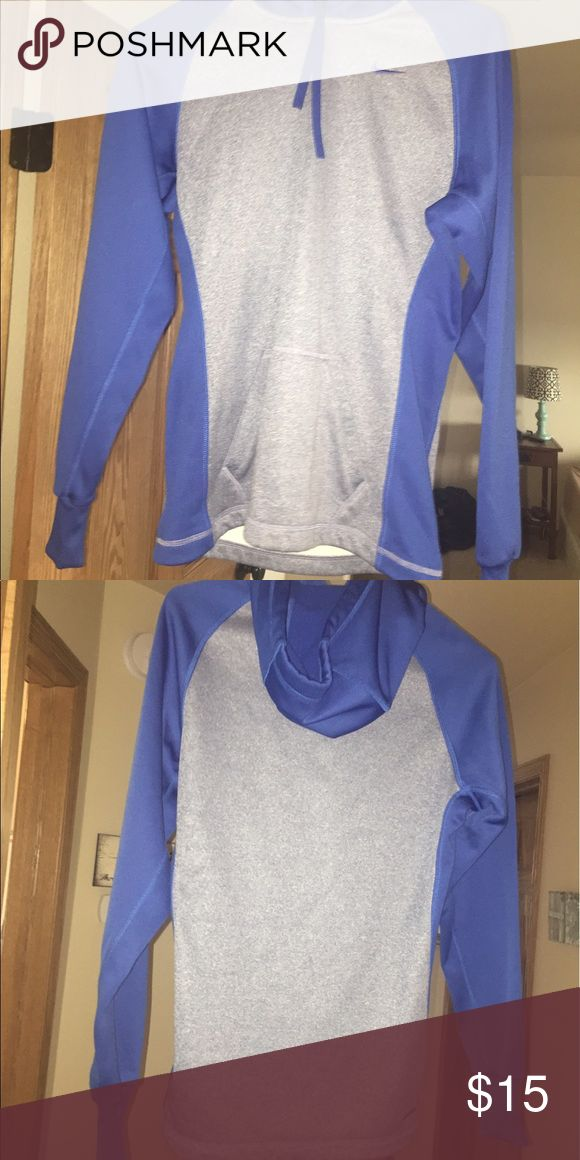 Nike hoodie Blue and grey Nike hoodie. The size is XS but honestly fits like a Small. Super cute and is seriously brand new! Nike Tops Sweatshirts & Hoodies