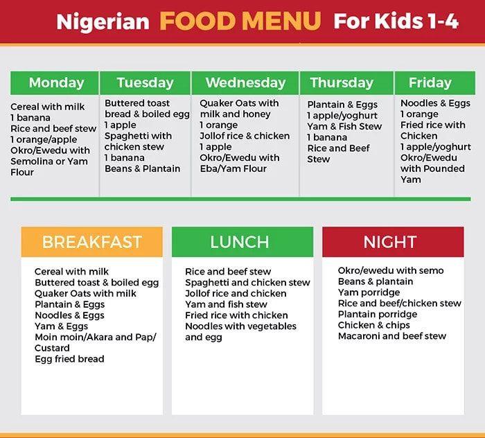 Image Result For Nigerian Food Time Table Nigerian Food Kids Meal Plan Nigeria Food