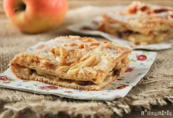 Tarta de manzanas y almendras