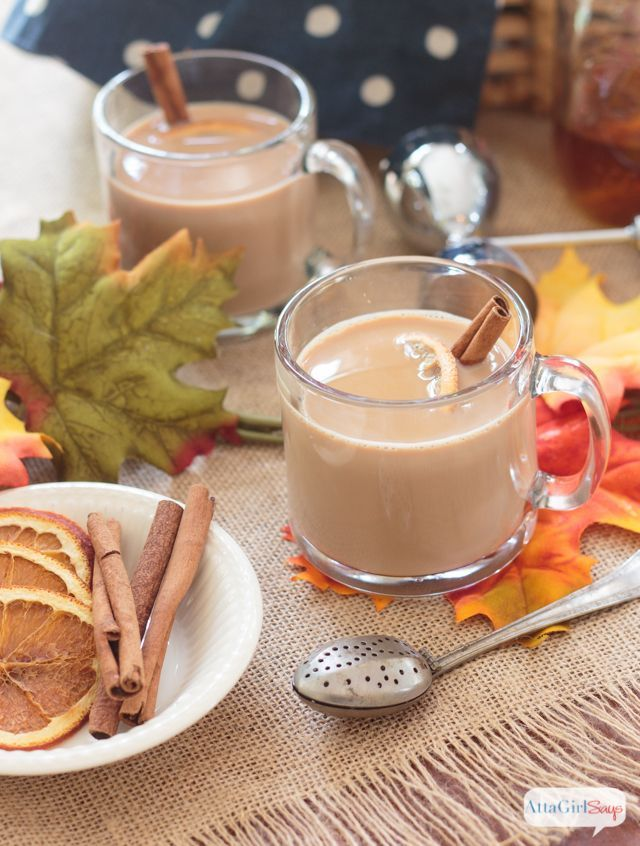 Fill a mug or a Thermos with spiked chai tea latte to knock off the chill on fall days. #ad #donthesitaste