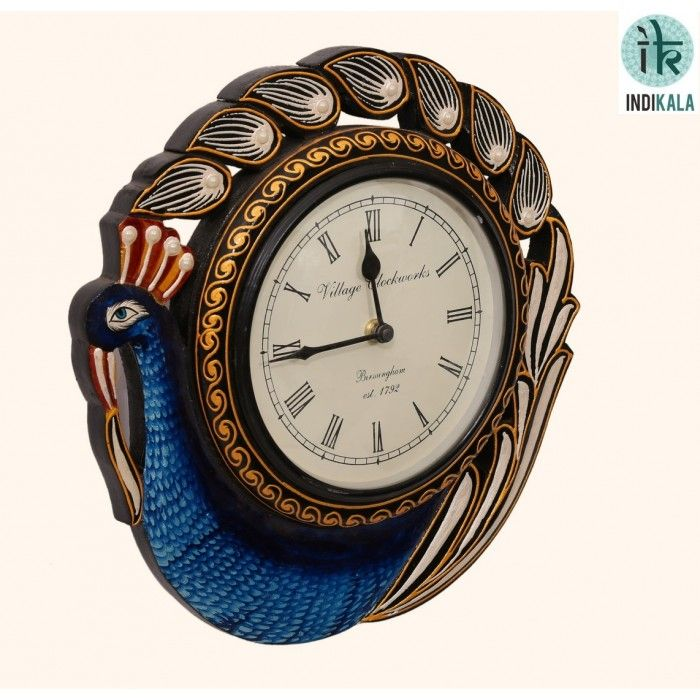 What to make your each moment count? Then buy ETHNIC PEACOCK SHAPED CLOCK on Indikala e-commerce website at - http://www.indikala.com/peacock-clock.html  Indikala India's Leading Ethnic Luxury Home Decor E-commerce website  #FreeShipping #HomeDecor #Decor #BuyOnline