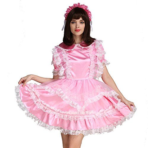 "This lockable sissy maid dress is the ultimate high quality satin pink costume for the sissy crossdresser. <strong>See our other Gocebaby maid costumes <a href=""http://www.crossdressboutique.com/tgirl/crossdressing-clothing/costumes/"">CLICK HERE</a>.</strong>"