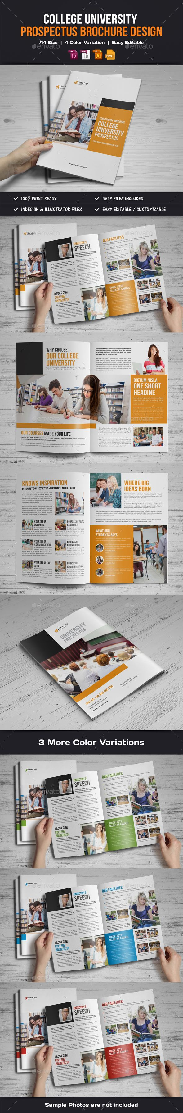 College University Prospectus Brochure Template Vector EPS, InDesign INDD, AI Illustrator. Download here: http://graphicriver.net/item/college-university-prospectus-brochure-v1/16387024?ref=ksioks