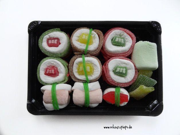 Gutscheine - Sushi Gutschein süße Überraschung - ein Designerstück von schnurzpieps bei DaWanda