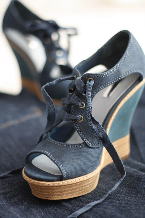 Love these denim shoes!