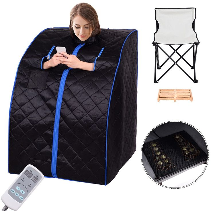 Costway Portable Far Infrared Sauna Spa Full Body Slimming Loss Weight Detox Therapy, Black