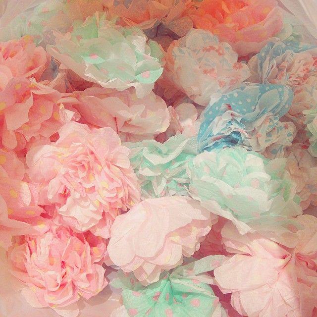 きのう友だちとひたすらお花つくってた。小学生の時やったよね?なつかしい。 これペーパーナプキンなんだよー❁  ピンクのがすごいかわいい。 . *⚑ #ペーパーフラワー #ペーパーナプキン #paperflowers