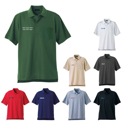 """Customized Orson Men's Short Sleeve Polo Shirts: Available Colors: Black, Dark Navy, Heather, Navy, Red, Stone, White, Woodland. Product Size: XS, S, M, L, XL, 2XL, 3XL, 4XL, 5XL. Imprint Area: Centered on Right Chest 2.50"""" H x 3.00"""" W. Carton Weight: 24.69 lbs. Packaging: 40. Material: Polyester, Cotton. #customorson #promotionalproduct #poloshirt"""